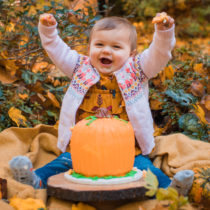 One year - fall baby pictures!